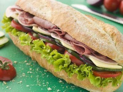 How Many Calories Are in Half a Subway #Sandwich? Make healthy choices- skip the mayo & cheese, choose light dressing, and add all the veggies!