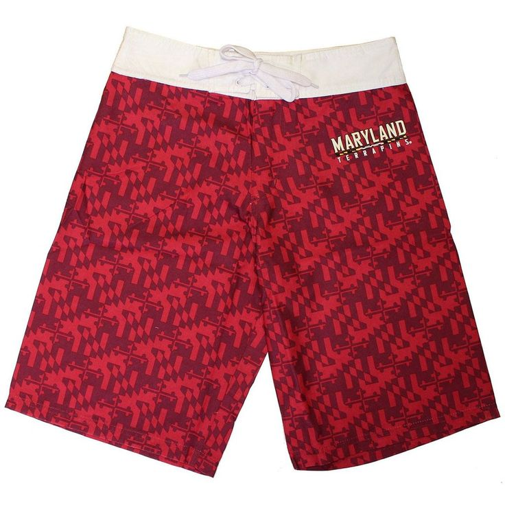 University of Maryland Red Two-Tone (Red) / Board Shorts