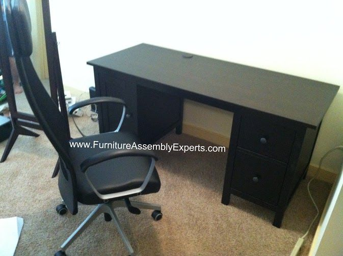 Ikea Hemnes Desk With Chair Assembled In 1650 Wilson Blvd Arlington Va By Furniture Assembly Experts LLC
