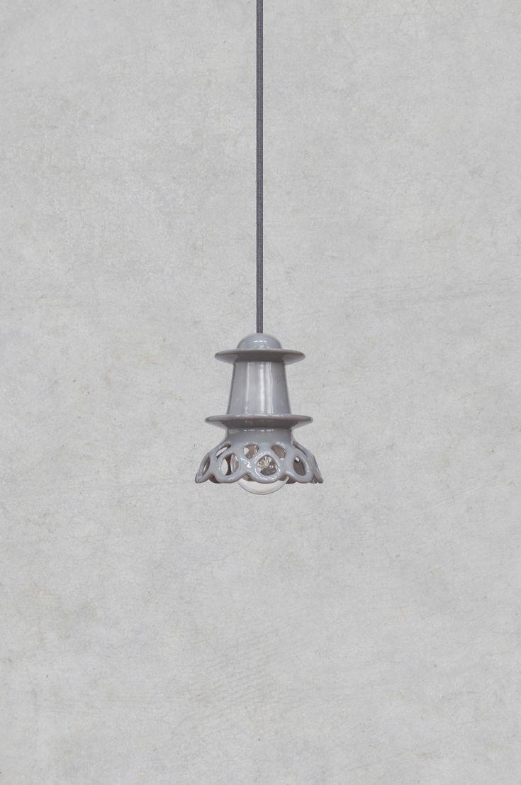 Nenu Lamp - hand made unique ceramic lamp by Grześkiewicz Design Studio