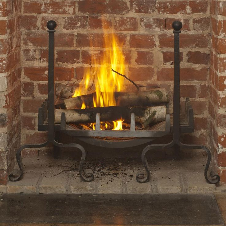 Our Peyton #fire #dogs and #swan necked basket would be an #elegant addition to any #fireplace.