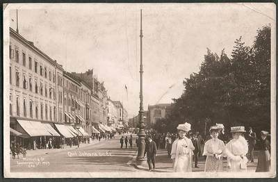 Christiania, Norway - Carl Johans Gade Vintage Real Photo Postcard