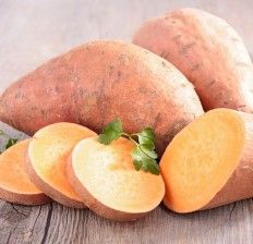 raw sweet potato Sweet Potato Nutrition Facts and Benefits 5.2kLike While I typically don't recommend going overboard on starchy carbs, when it comes to eating a healthy diet sweet potatoes can be an asset to your health. Ranking much lower on the glycemic index then regular potatoes and containing a higher density of nutrients, sweet potatoes have an impressive nutritional profile. Sweet potatoes are packed with potassiu