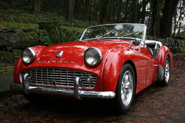 1961 Triumph TR3B - I had a 63 that looked exactly like this.