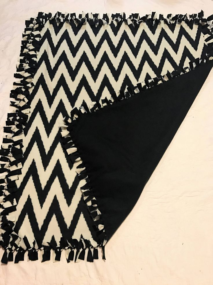 Chevron Blanket - Black Chevron Decor - Chevron Throw - Chevron Bedding - Decorative Blanket - Zebra Print Blanket - Blanket with Chevron by CraftyLeeCreationsUS on Etsy