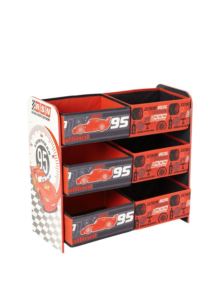 Disney Cars 6 Bin Storage Unit | Very.co.uk