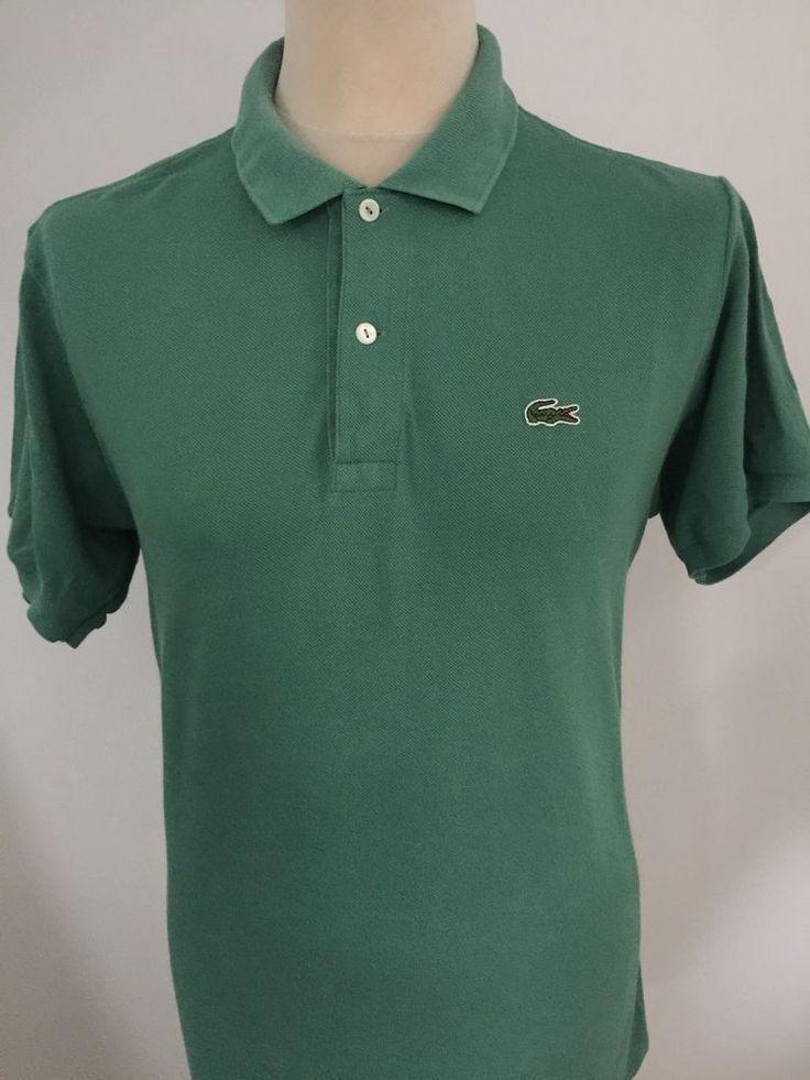 LACOSTE Polo Shirt GREEN Size 4 MEDIUM  | eBay