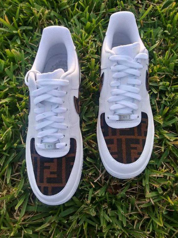 separation shoes 21faf 0ba5a Custom Fendi Air Force 1 One Low top luxury designer custom   Etsy
