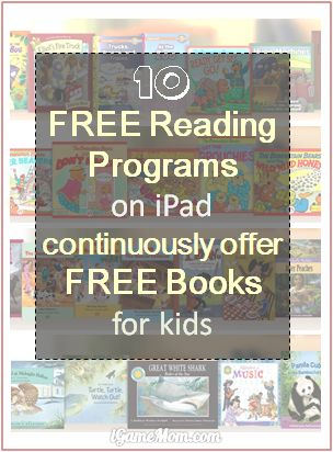 10 free reading programs on mobile devices like iPad iPhone that continuously offer free books to kids (daily, weekly or monthly) #kidsapps #kidlit