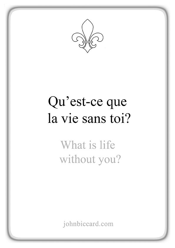 What Is Life Without You In 2020 French Love Quotes French Quotes Famous Book Quotes