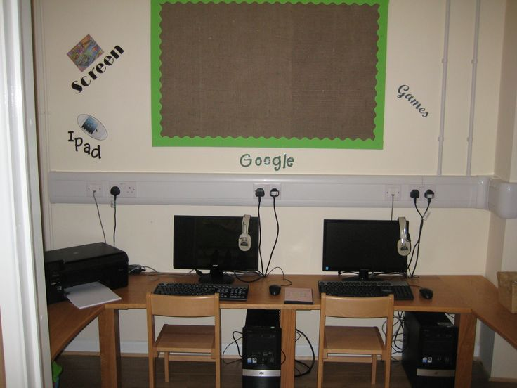 The cupboard was converted into an ICT Hub for the pre-school children