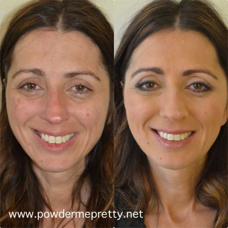 Before and after airbrush makeup for a mother of the bride ...