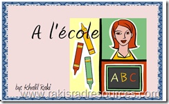 A L'ecole - Printable Beginning Reader in French for FREE