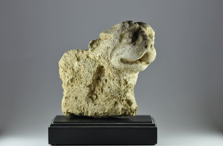 Gandharan stucco lion, 3rd-4th century A.D. Gandharan stucco lion taht was probably an architectural ornament, 10 cm high. Private collection