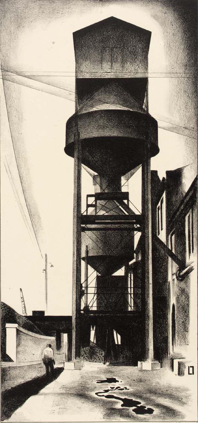 Louis Lozowick - Tanks No.3 (1930)