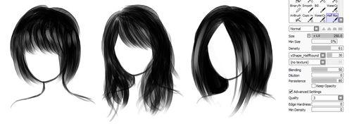 Кисть для paint tool sai волосы