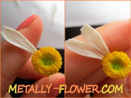 лепка ромашки керамическая флористика мастер класс пошаговый