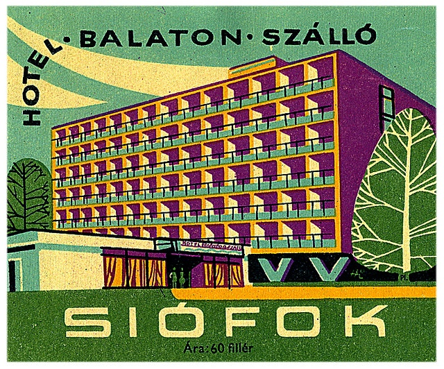 1960s luggage label