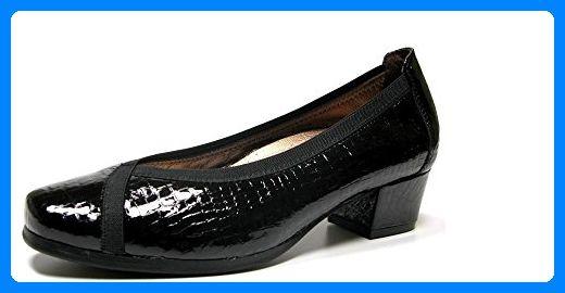 Bequeme Schuhe Wohnzimmer in Pico Damen Doctor Cutillas Schablone Kupplung–Leder Band Coco in Schwarz mit Stretch–81734–61, schwarz - Schwarz - Größe: EU 40 - Damen pumps (*Partner-Link)