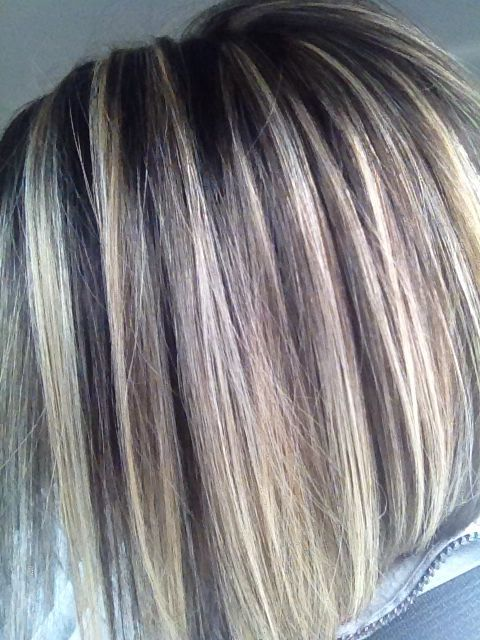 Lowlights For Gray Hair | blending gray hair with ...