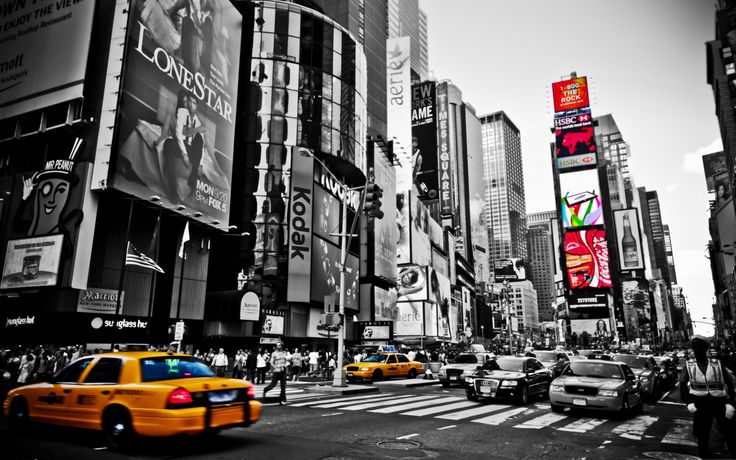 General 2560x1600 New York City cityscape selective coloring