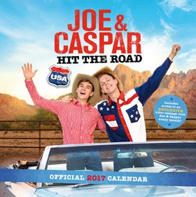 New Official Joe and Caspar 2017 Calendar available with FREE UK P&P (plus worldwide delivery available) at http://bit.ly/JoeCapsarCal2017