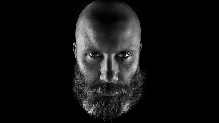 3840x2160 Wallpaper huoratron, bald, face, beard, look