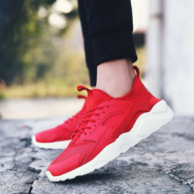 Mesh Air Breathable Men Trainers Red