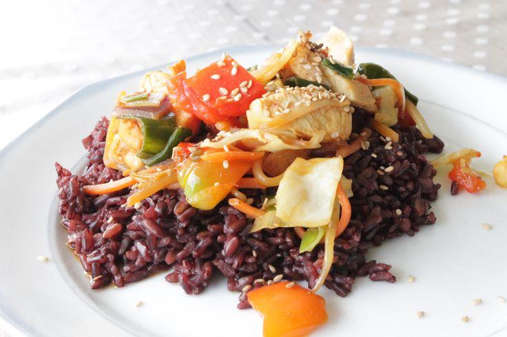 RECEPT   Zwarte rijst met kip - Suzanne Elisa
