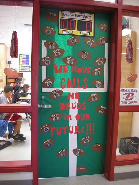 "Could be goals to ""pass/read _____ Idea for our door for red ribbon week!"