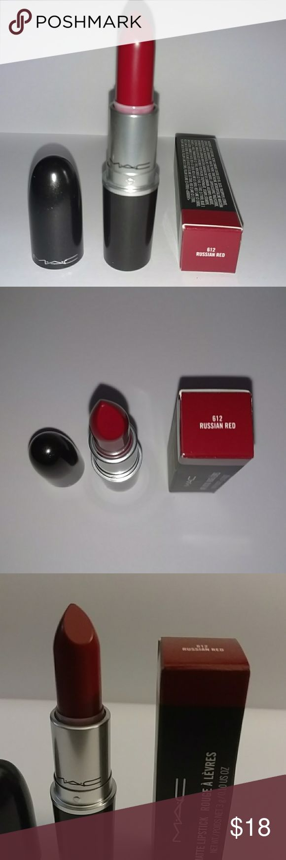 Russian Red - MAC Matte Lipstick Brand new in box lipstick in the color Russian Red.  It's a comfortable formula for those who are a fan of matte lipstick. A staple red for any MAC collection. MAC Cosmetics Makeup Lipstick