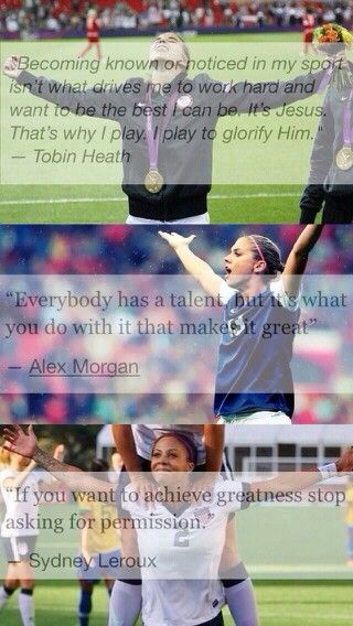 I like Lerouxs at the bottom #uswnt #quotes - Love to bet on sports? Start here !!!