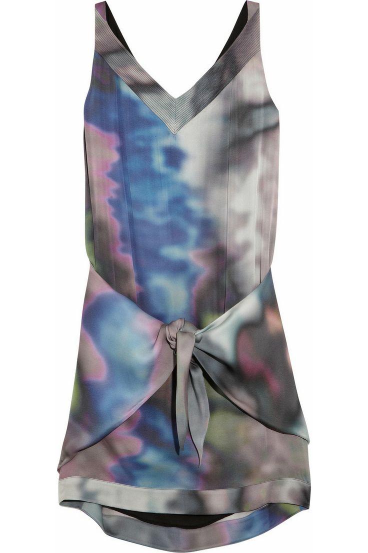 Theyskens' Theory Damara printed silk mini dress NET-A-PORTER.COM