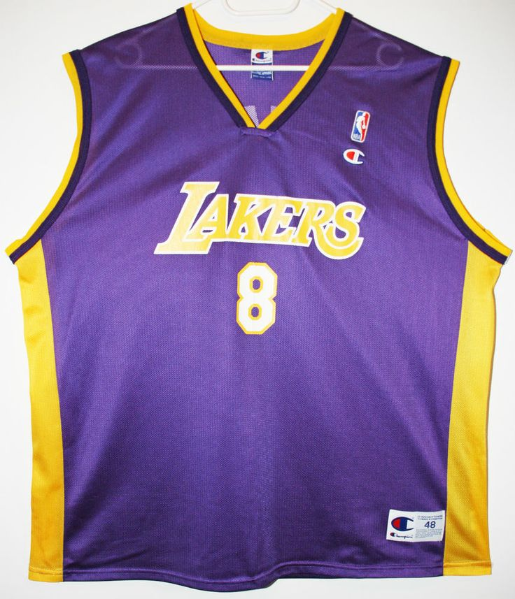 Champion NBA Basketball Los Angeles Lakers #8 Kobe Bryant Trikot/Jersey Size 48 - Größe XL - 59,90€ #nba #basketball #trikot #jersey #ebay #sport #fitness #fanartikel #merchandise #usa #america #fashion #mode #collectable #memorabilia #allbigeverything