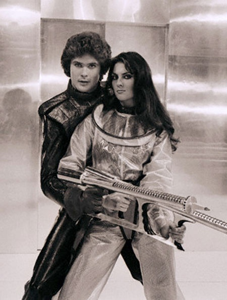 David Hasselhoff(!) and Caroline Munro from Starcrash.