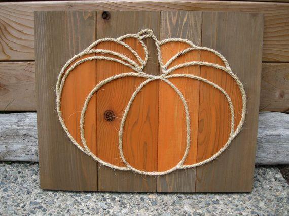 Rustic Pumpkin Fall Decor Thanksgiving Decor by CedarAndSea