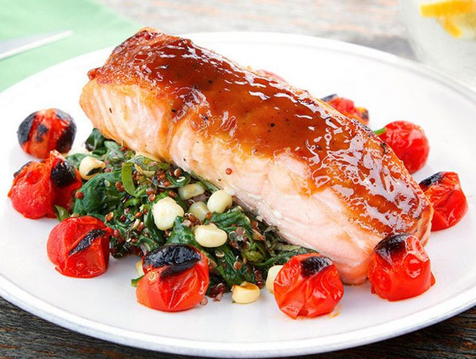 Maple Glazed Salmon. http://www.chefd.com/collections/all/products/maple-glazed-salmon