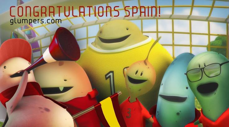 Congratulations to Spanish football team, champion of Euro 2012!! Glumpers with sports and fairplay! -- Enhorabuena a la selección española por ganar la bonita final de la Eurocopa de fútbol, felicidades campeones!!