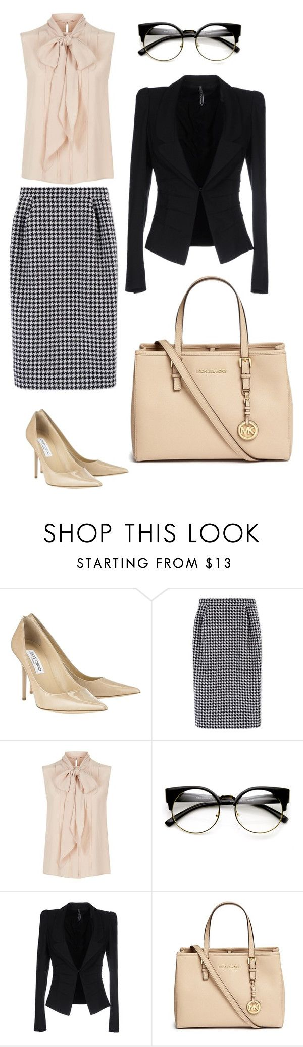 """Look 3- WILSONS"" by kirravanblanken on Polyvore featuring Jimmy Choo, MaxMara, ZeroUV, Liviana Conti and Michael Kors"