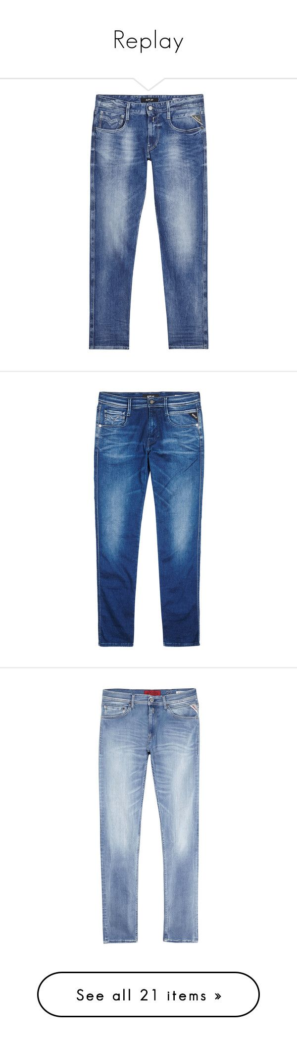 """Replay"" by tina-teena ❤ liked on Polyvore featuring men's fashion, men's clothing, men's jeans, mens faded jeans, replay mens jeans, mens blue jeans, mens super skinny jeans, mens skinny jeans, mens blue skinny jeans and outerwear"