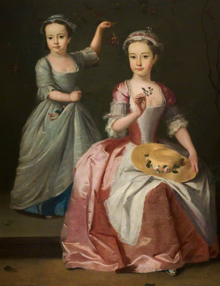 Meriel Legh and Dorothea Byrne by British (English) School, c.1750
