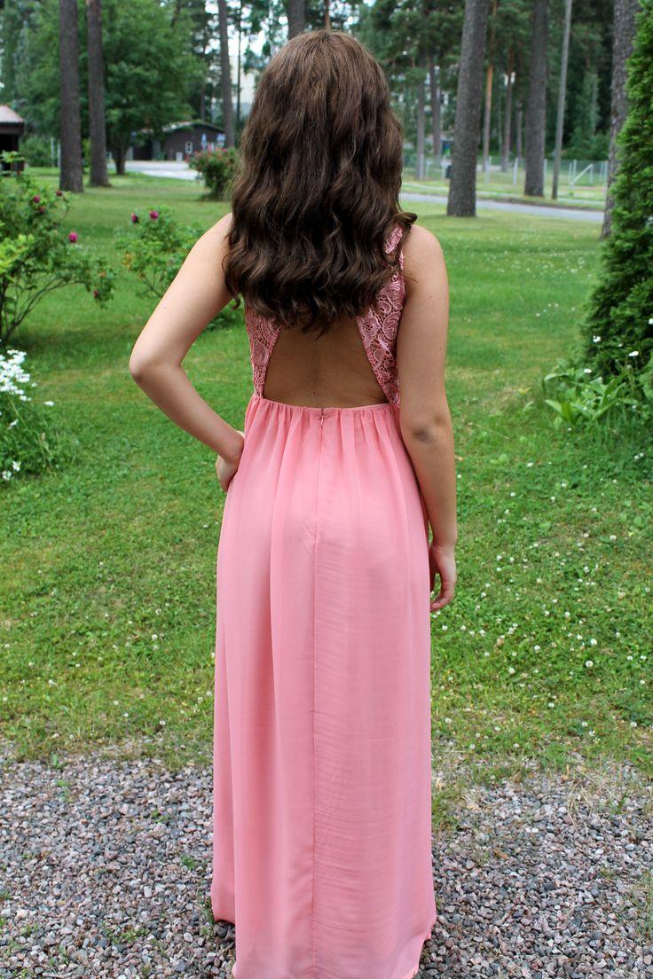 Pink confirmation dress
