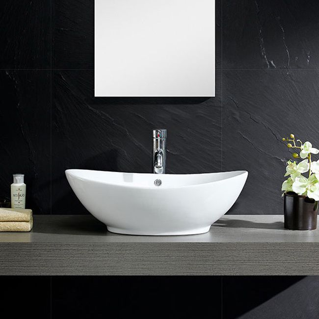 Bring added elegance to your bathroom with this Fine Fixtures modern vessel sink.  Constructed of durable and stain resistant vitreous china, this oval sink features sleek curved sides, its rounded appearance provides it with a modern and fresh look.