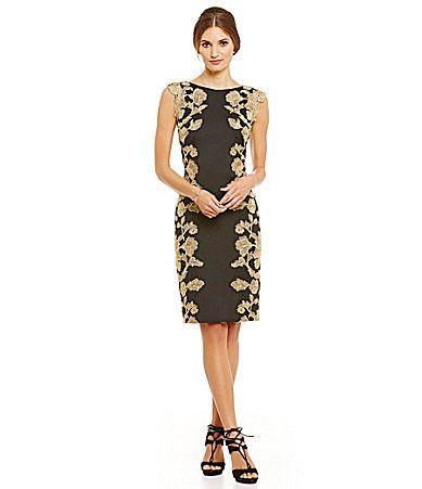 Tadashi Shoji LacePaneled Sheath Dress #Dillards