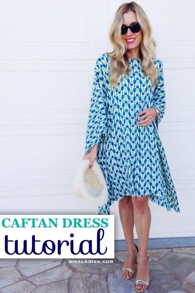 Summer Dress Pattern - Easy Caftan Tutorial