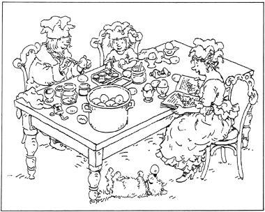 Kleurplaat Liselotje en het paasfeest