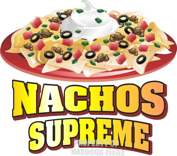 "Nachos Supreme Decal 14"" Concession Trailer Food Truck Vinyl Menu Sticker…"