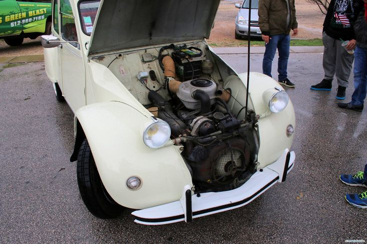 Citroën 2CV. As seen at the Cars and Coffee show in December 2015 in Austin TX USA.
