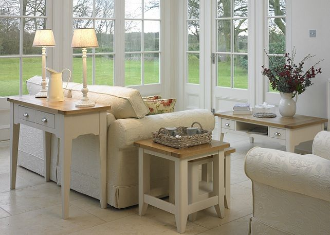 Cottage Oak And Painted Living Room Furniture | Oak Furniture Uk