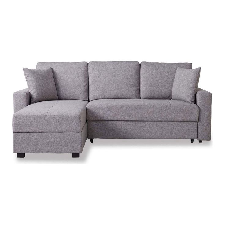 Casablanca Fabric Platform Sofa Bed with Storage a Peppered, Grey